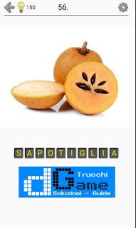 Soluzioni Frutti, verdure e noce livello 56
