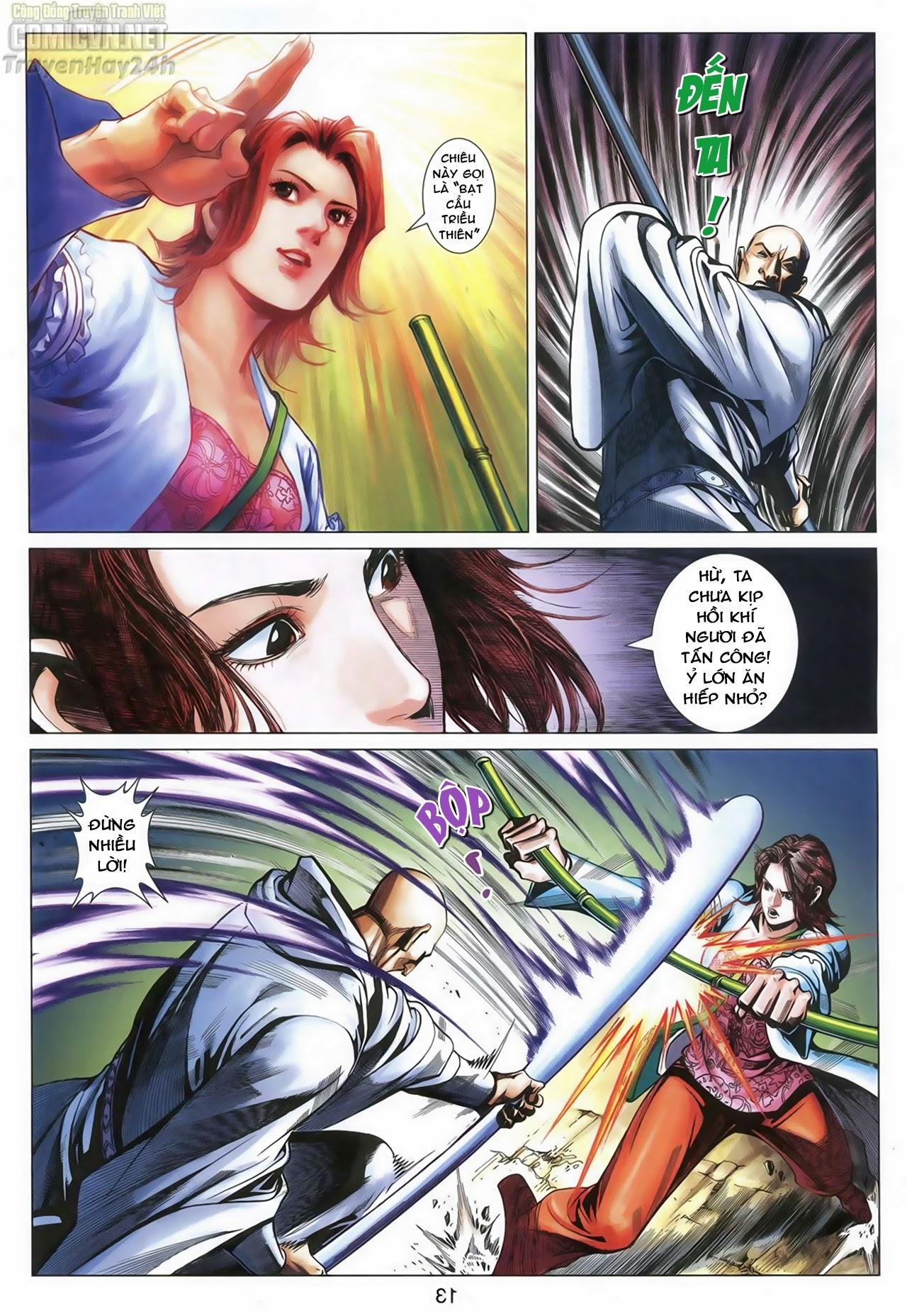 Anh Hùng Xạ Điêu anh hùng xạ đêu chap 68: di thư chân kinh - lừa tình trang 14