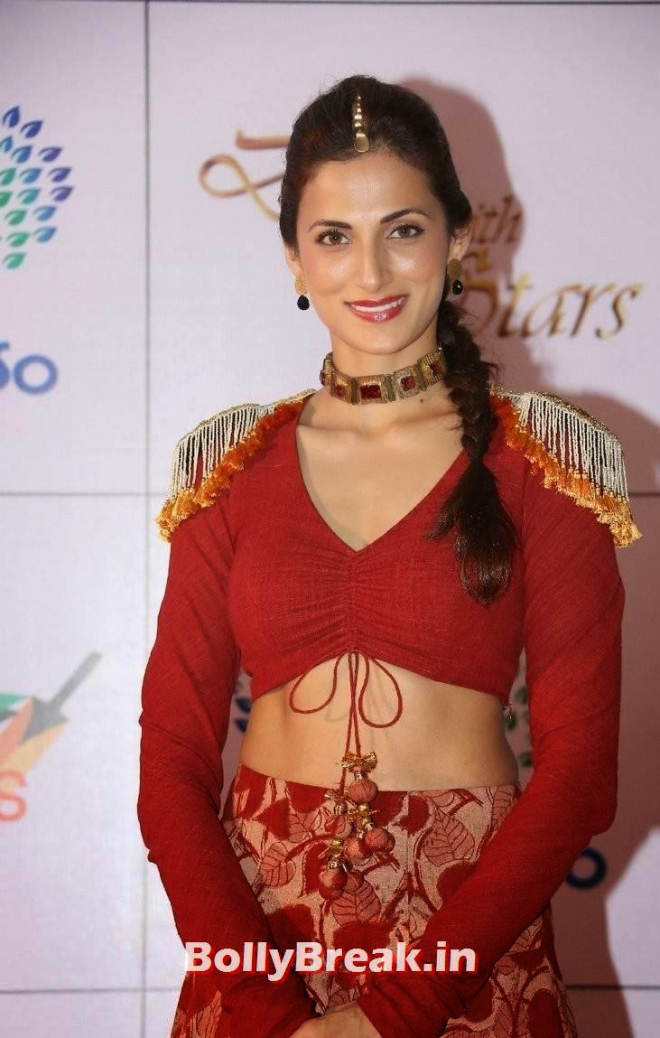 Shilpa Reddy Pictures, Shilpa Reddy Navel Pics in Red Hot Dress