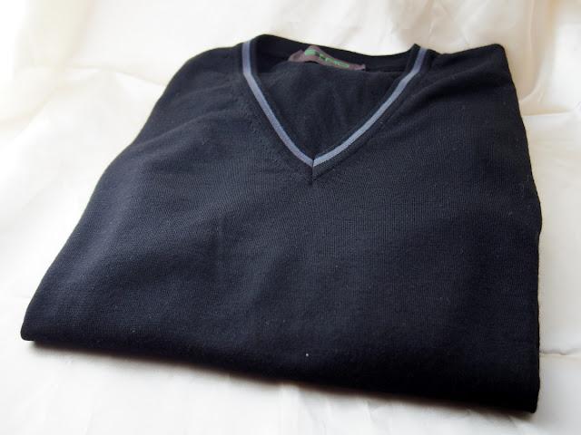 染め替えたエトロの長袖ニット