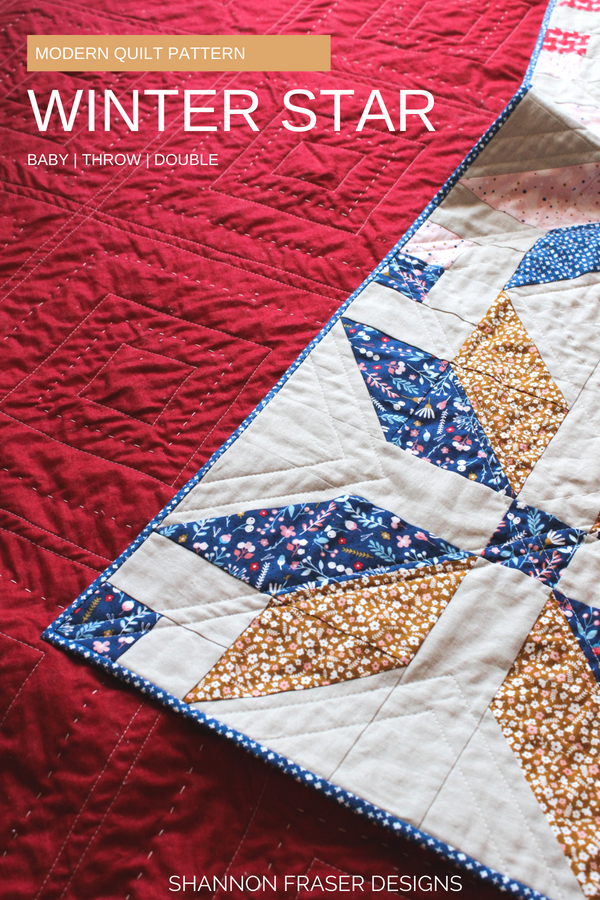 Winter Star Quilt | Q3 2018 Finish-A-long Proposed Projects | Shannon Fraser Designs