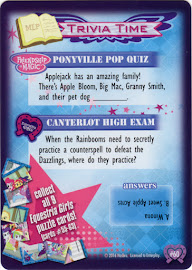 My Little Pony Equestria Girls Puzzle, Part 6 Equestrian Friends Trading Card