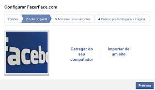 Imagem de perfil de uma Fanpage