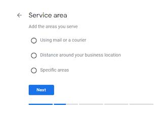Pilih Service Area, Lalu Klik Next
