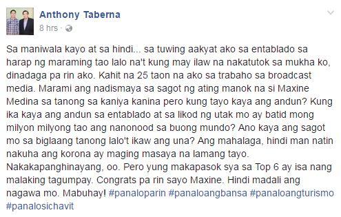 """Anthony Taberna Defends Maxine Medina: """"Kung ikaw kaya ang andun..?"""" READ HERE!"""