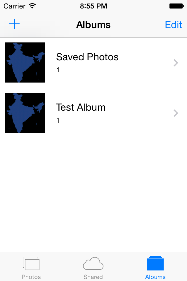 Photo Gallery with Albums in IOS