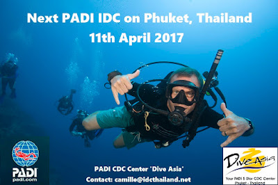 Next PADI IDC on Phuket, Thailand is scheduled to start 11th April 2017