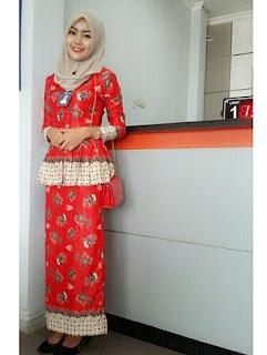 Baju Atasan Batik Muslimah