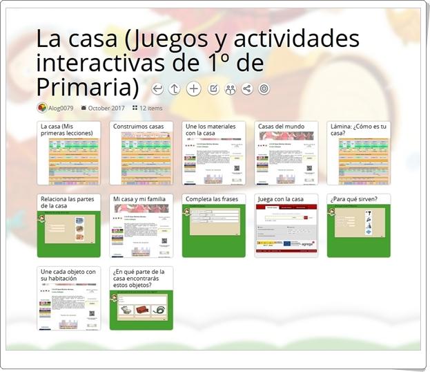 """""""14 Juegos y actividades interactivas sobre LA CASA en 1º de Primaria"""""""