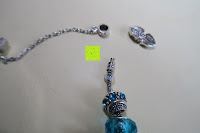 Enden: A TE® Armband Charms Damen Kristall Blau Muranoglas Blume Glasperle Mädchen Geschenk Frauen #JW-B94