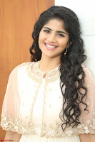 Megha Akash in beautiful Cream Transparent Anarkali Dress at Pre release function of Movie LIE ~ Celebrities Galleries 061.JPG