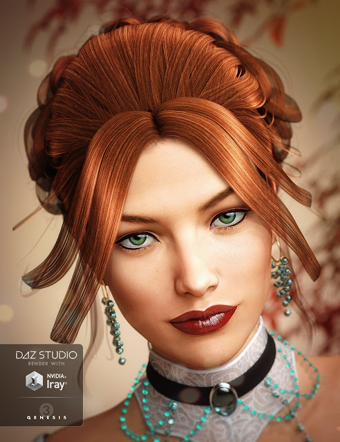 Aliza Hair for Genesis 3 Female