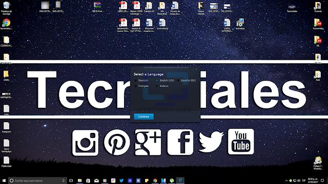 Seleccion de idioma instalador Starcraft