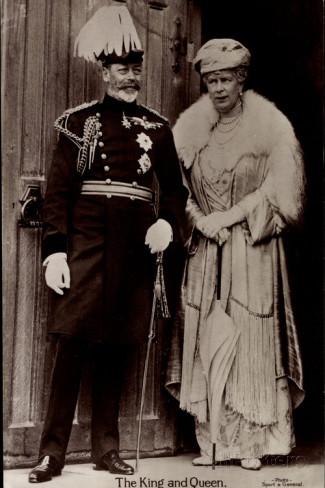 Resultado de imagen de María de Teck y su esposo el rey Jorge V