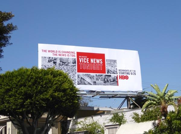 Vice News Tonight series premiere billboard