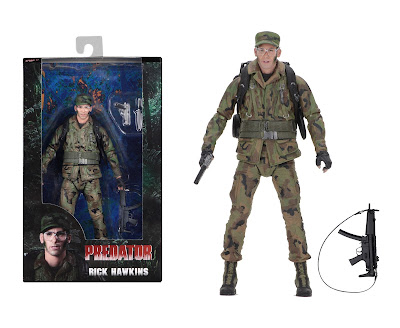 "San Diego Comic-Con 2018 Exclusive Predator 30th Anniversary Rick Hawkins 7"" Action Figure by NECA x Shane Black"