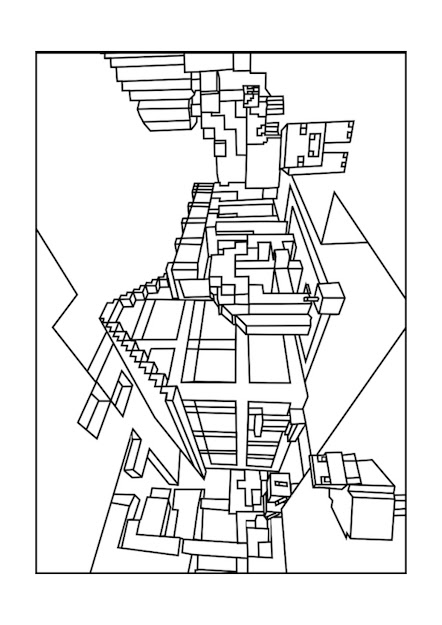 Best Minecraft World Coloring Pages