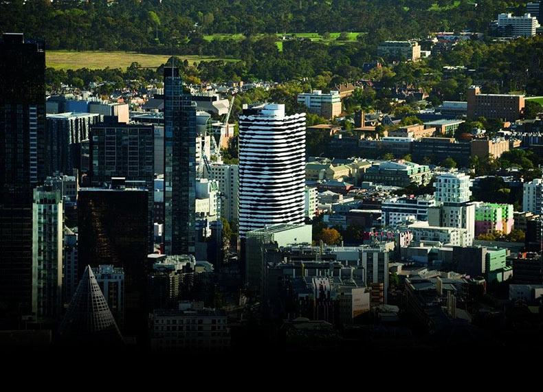 El edificio Melbourne con una cara | Australia