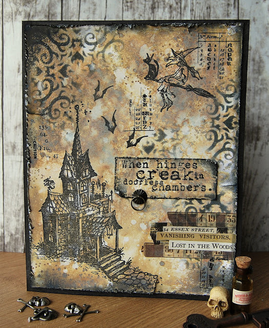 Perfect Time To Share The Last Of My Halloween Cards, Made With What Is  Probably My Favourite Tim Holtz/Stampers Anonymous Stamp Set From This  Yearu0027s ...