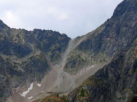 Lodowa Przełęcz (słow. Sedielko; 2372 m n.p.m.).
