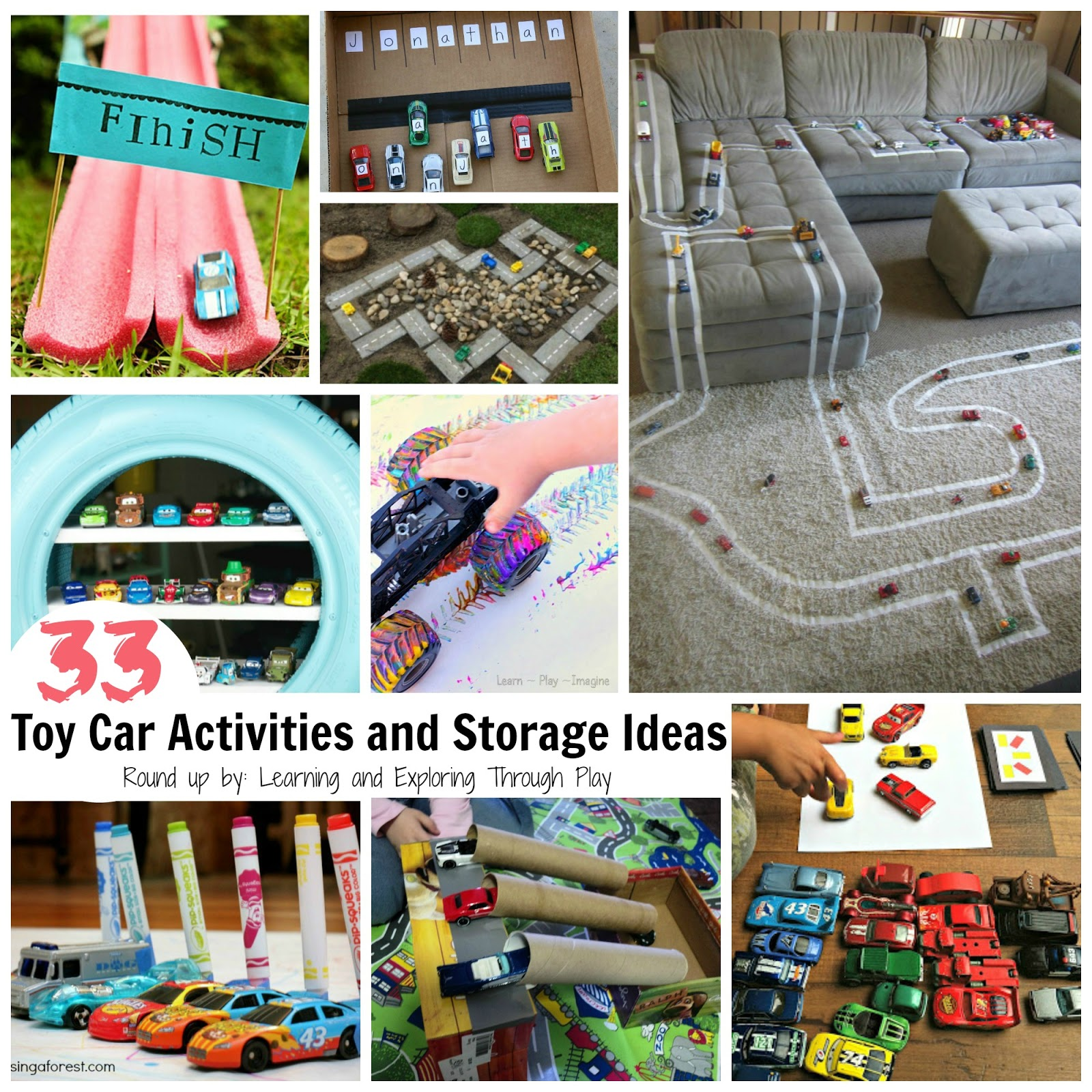 Do You Have A Little One In Your Household/setting Who Just LOVES Playing  With Toy Cars? If You Do, This Is A Collection Of Ideas You Wont Want To  Miss!