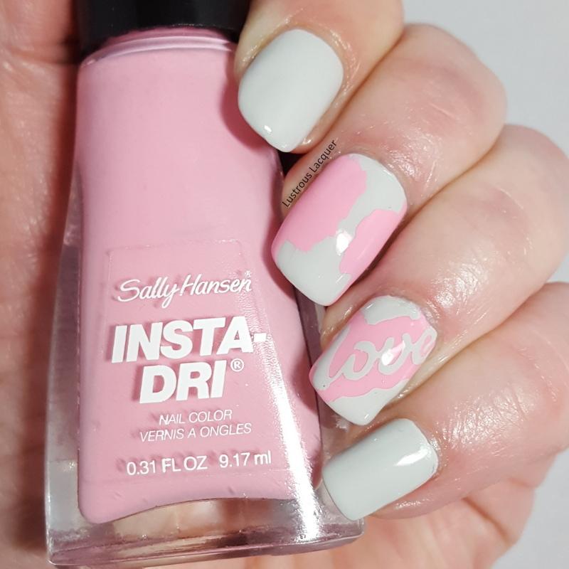 Love nail art for Valentines Day - <em>Lustrous Lacquer</em>