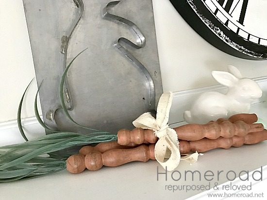 Mantel spindle carrots and bunny mold