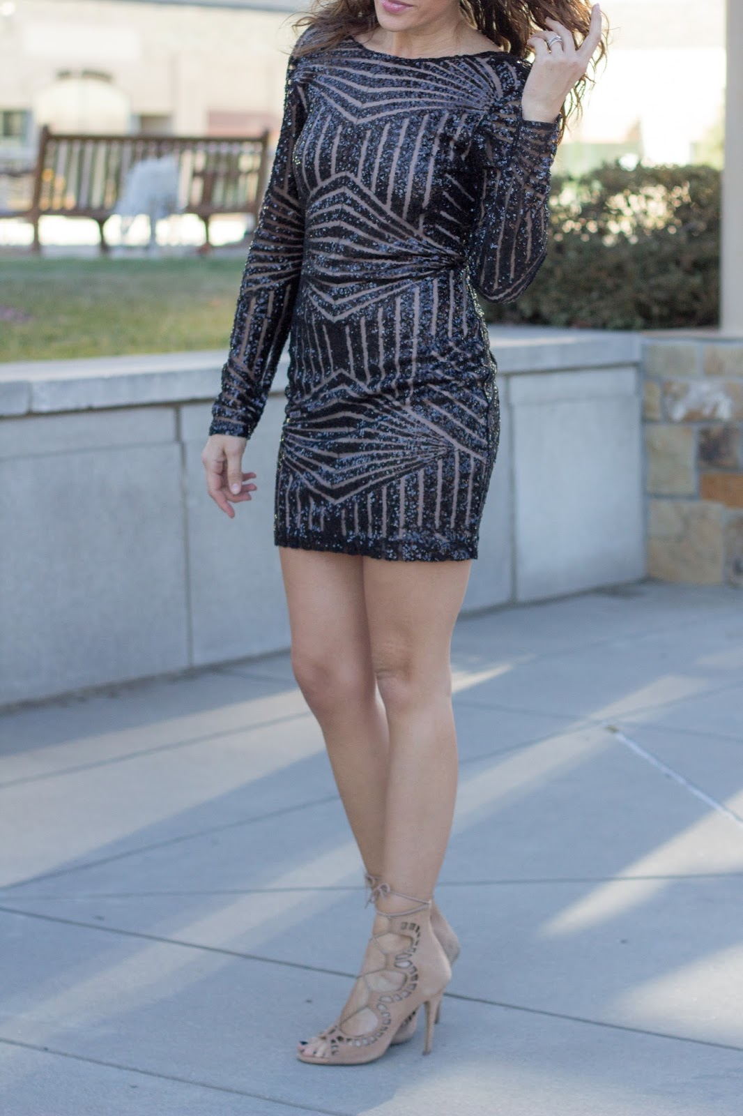 Little Black Holiday Dress by Colorado fashion blogger Eat Pray Wear Love