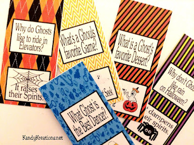 Halloween candy bar wrappers joke printables