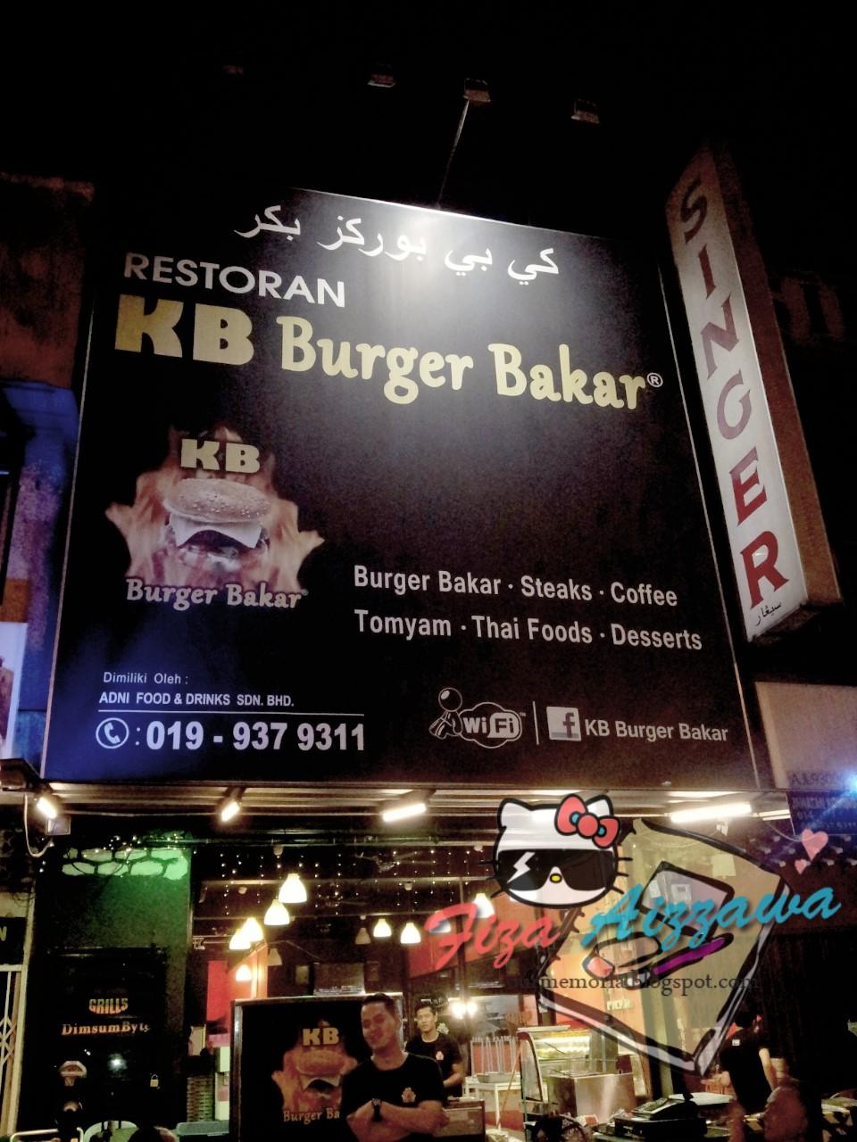 Lepas tu kami singgah makan di Restoran KB Burger Bakar. Memang ramai  sangat orang dan kami singgah pun time tu dah hampir jam 12 malam. d146b81dd1