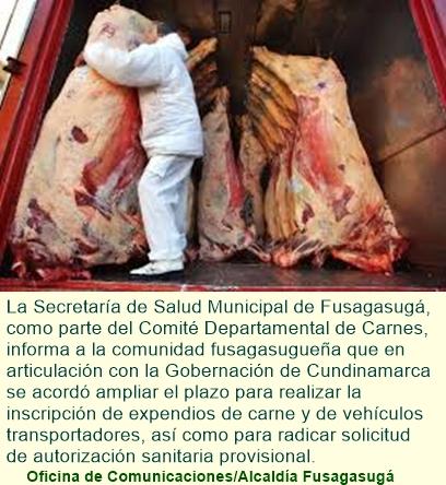 Ampliación de plazo para inscripción de expendios de carne y vehículos transportadores