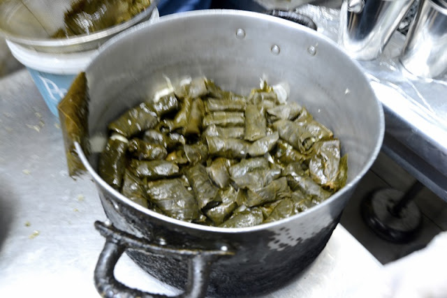 Dolmades. Stuffed vine leaves