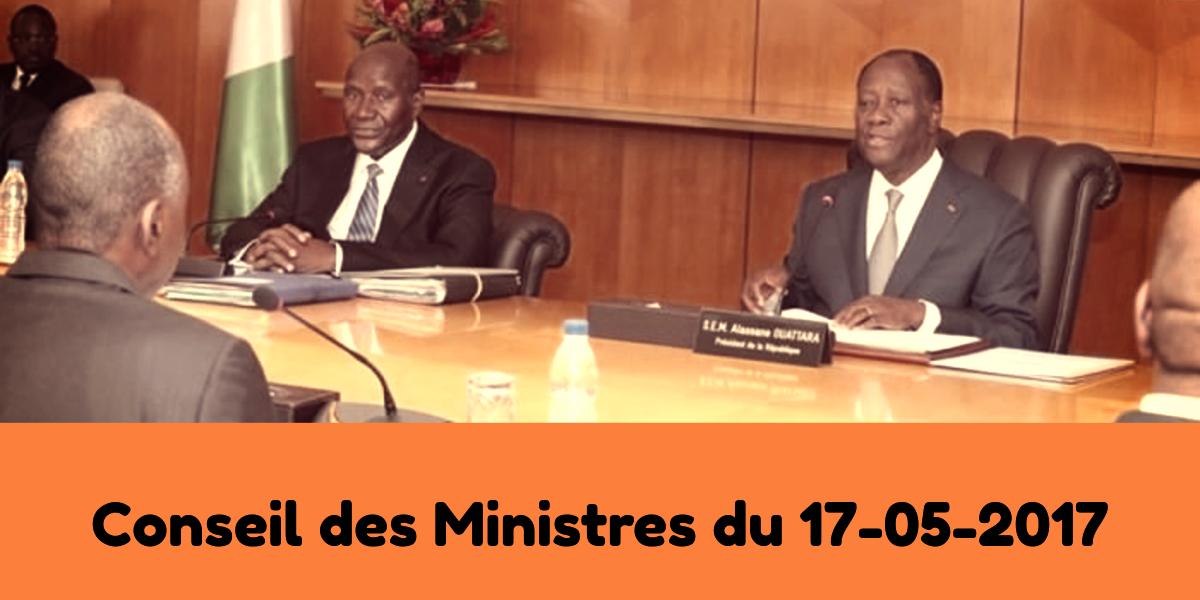 Projets d'ordonnances et de décrets adoptés en conseil des Ministres du 17 mai 2017
