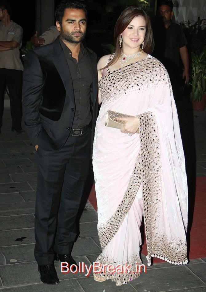 Raina Joshi, Sachiin Joshi, Esha, Sridevi, Jacqueline, Sonali at Tulsi Kumar's wedding Reception