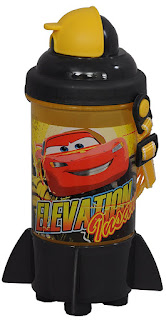 Amazon- Buy Disney Cars Plastic Sipper Bottle, 350ml, Yellow/Grey at Rs 129