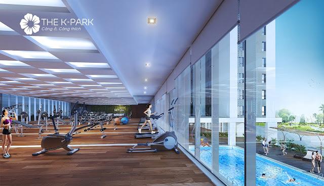 Khu tập gym hiện đại tại tầng 2