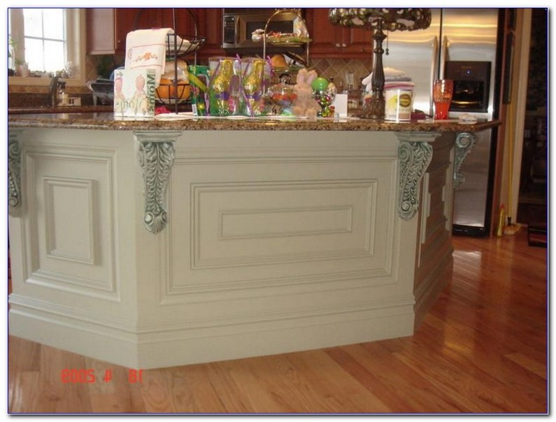 Kitchen Island Decorative Trim With Cream Granite Countertops For Shapes Ideas Images Small