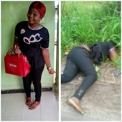 6 - Young lady murdered and her remains dumped on the roadside in Delta state (Photos)