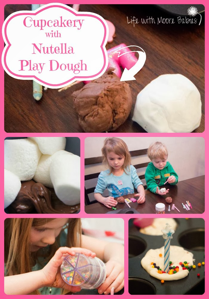 Play Dough Cupcakery with Nutella Play Dough