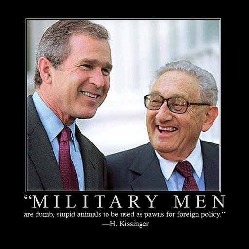 Kissinger military dumb animals