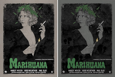 Marihuana Screen Print by Timothy Pittides x Grey Matter Art - Regular & Variant Editions