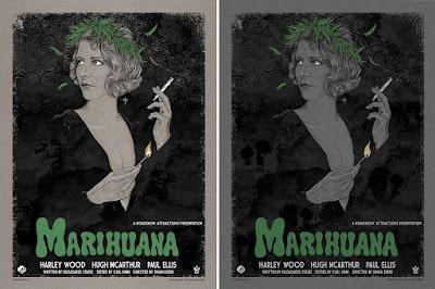 Marihuana Screen Print by Timothy Pittides x Grey Matter Art - Regular & Variant Editions