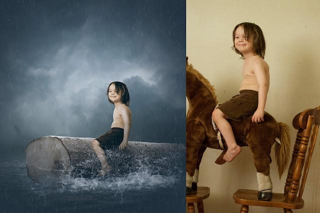 Child at Stranded - Photoshop Manipulation Tutorials