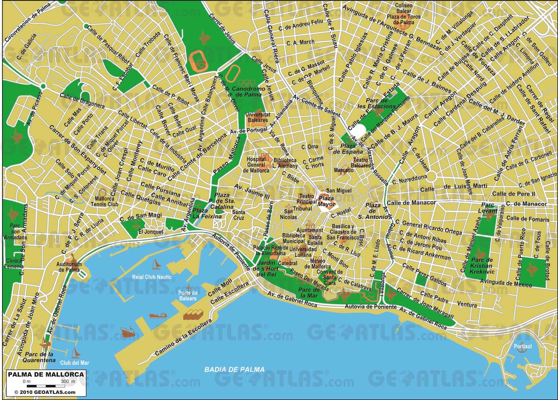 mapa de maiorca espanha Mapas de Palma   Espanha | MapasBlog mapa de maiorca espanha