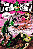 Green Lantern Green Arrow #77 dc comic book cover art by Neal Adams
