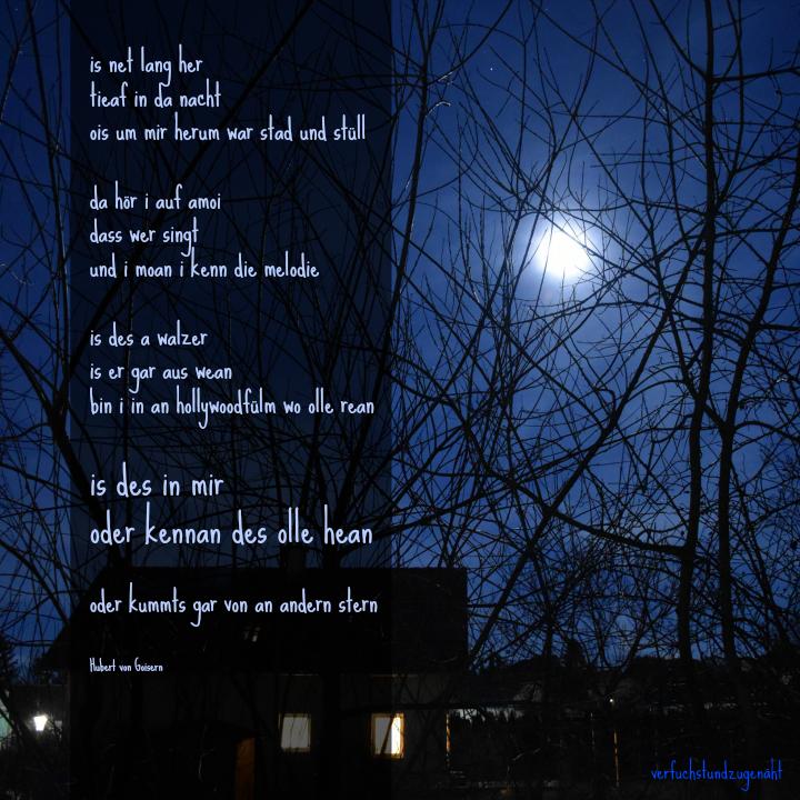 is nit lang her - Teytauszug aus einem Hubert von Goisern Lied