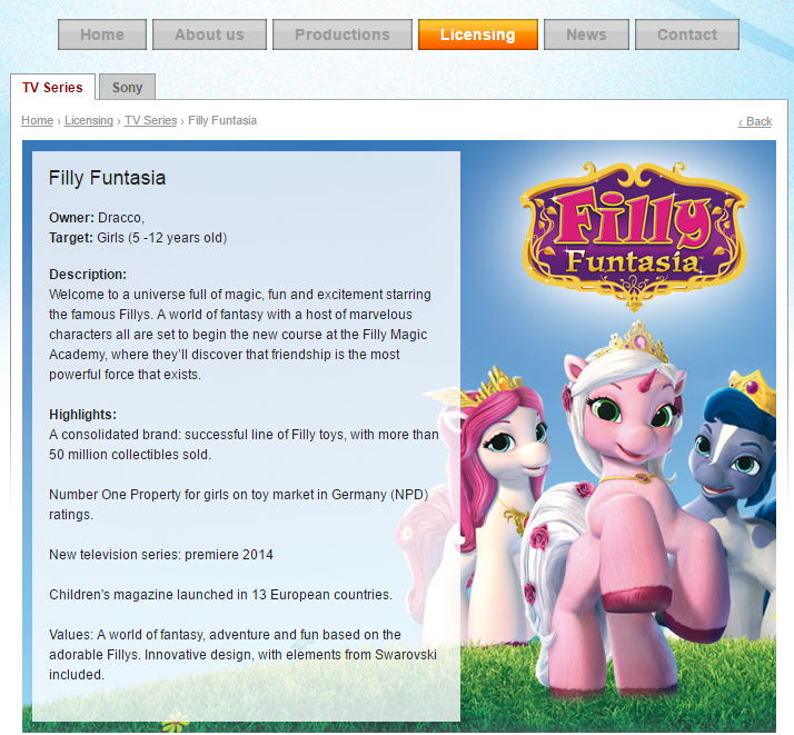 filly homepage