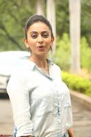 Rakul Preet Singh in Jeans and White Shirt At Jaya Janaki Nayaka le Logo Launch ~  Exclusive 031.JPG