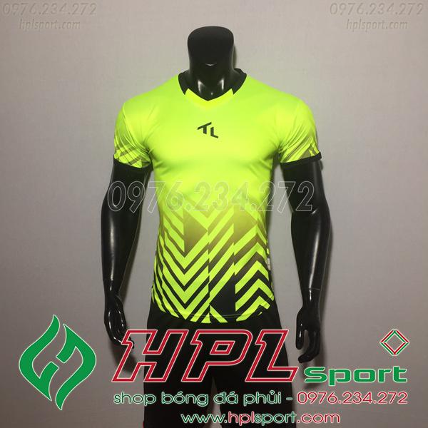 Áo bóng đá không logo TL HML Raki Màu Xanh Chuối