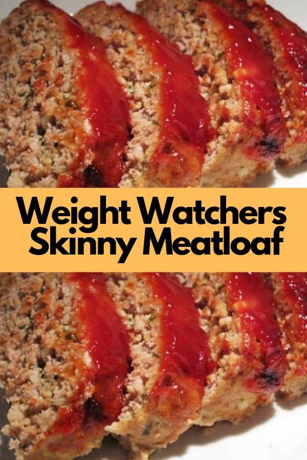 Weight Watchers Skinny Meatloaf #weightwatchers #dinner #meatloaf